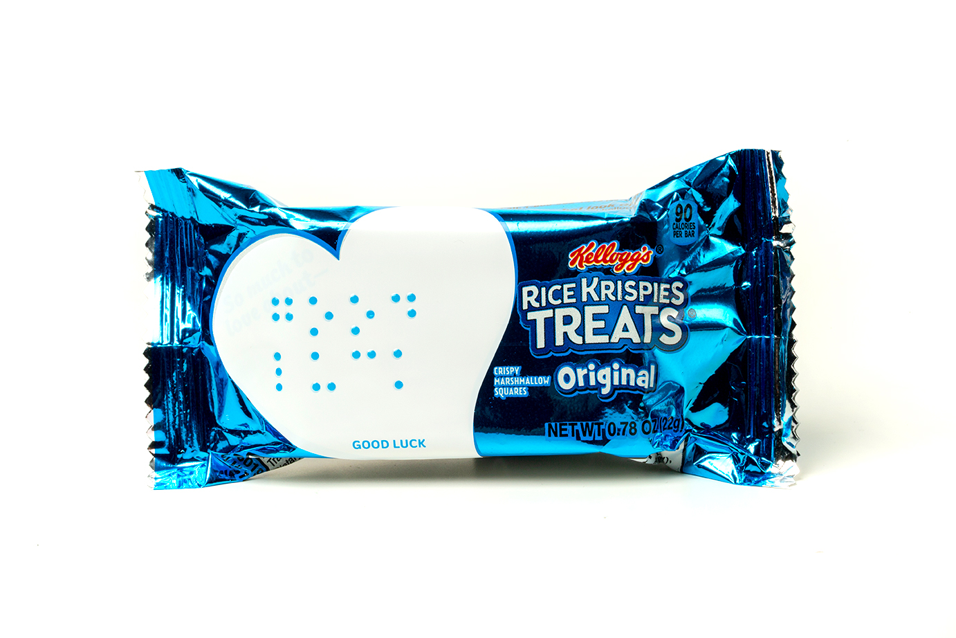 Parents can leave lunch notes for their visually impaired kids on these accessible Rice Krispies treats