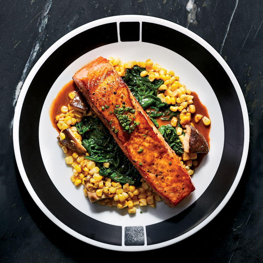 Seared Salmon with Summer Vegetables