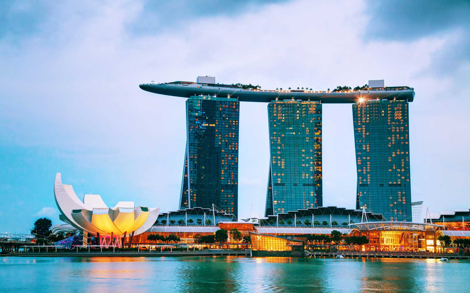 Overview of Singapore with Marina Bay Sands