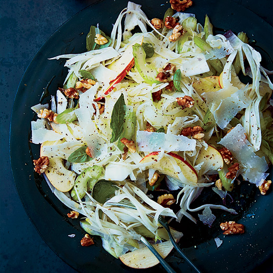 Celery, Fennel, Apple Salad with Pecorino and Walnuts