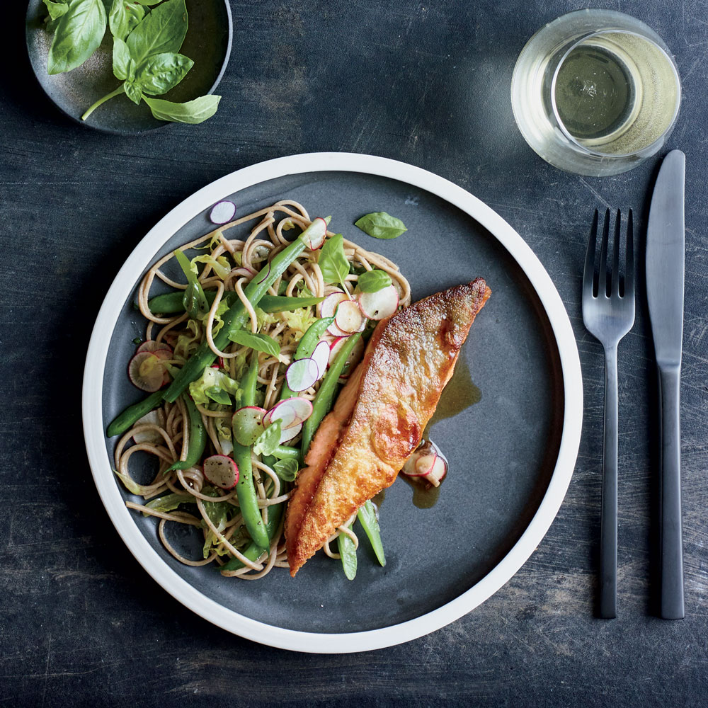 Arctic Char with Soba and Green Beans