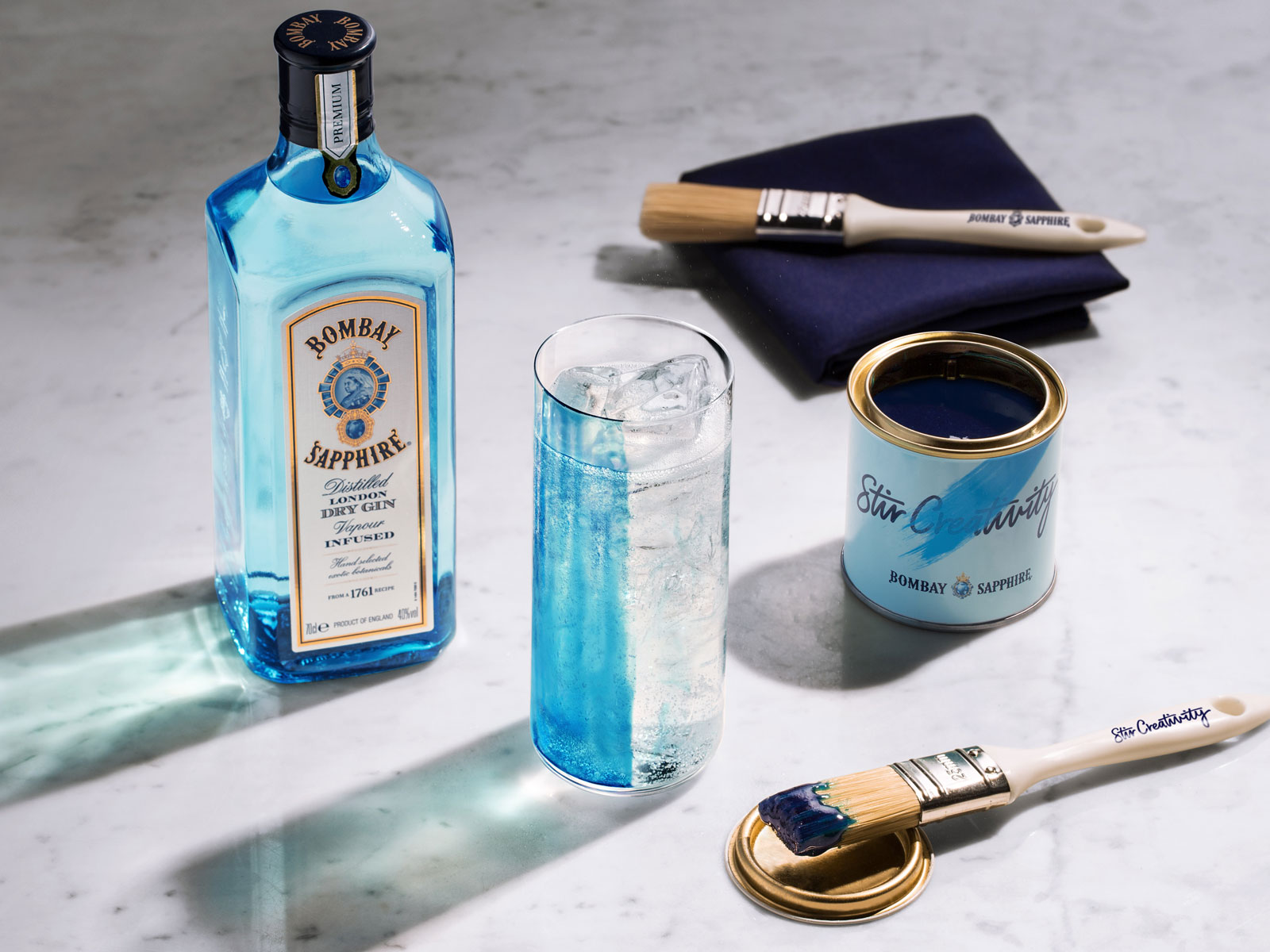 This Edible Paint Is Designed to Change the Look and Taste of a Gin and Tonic