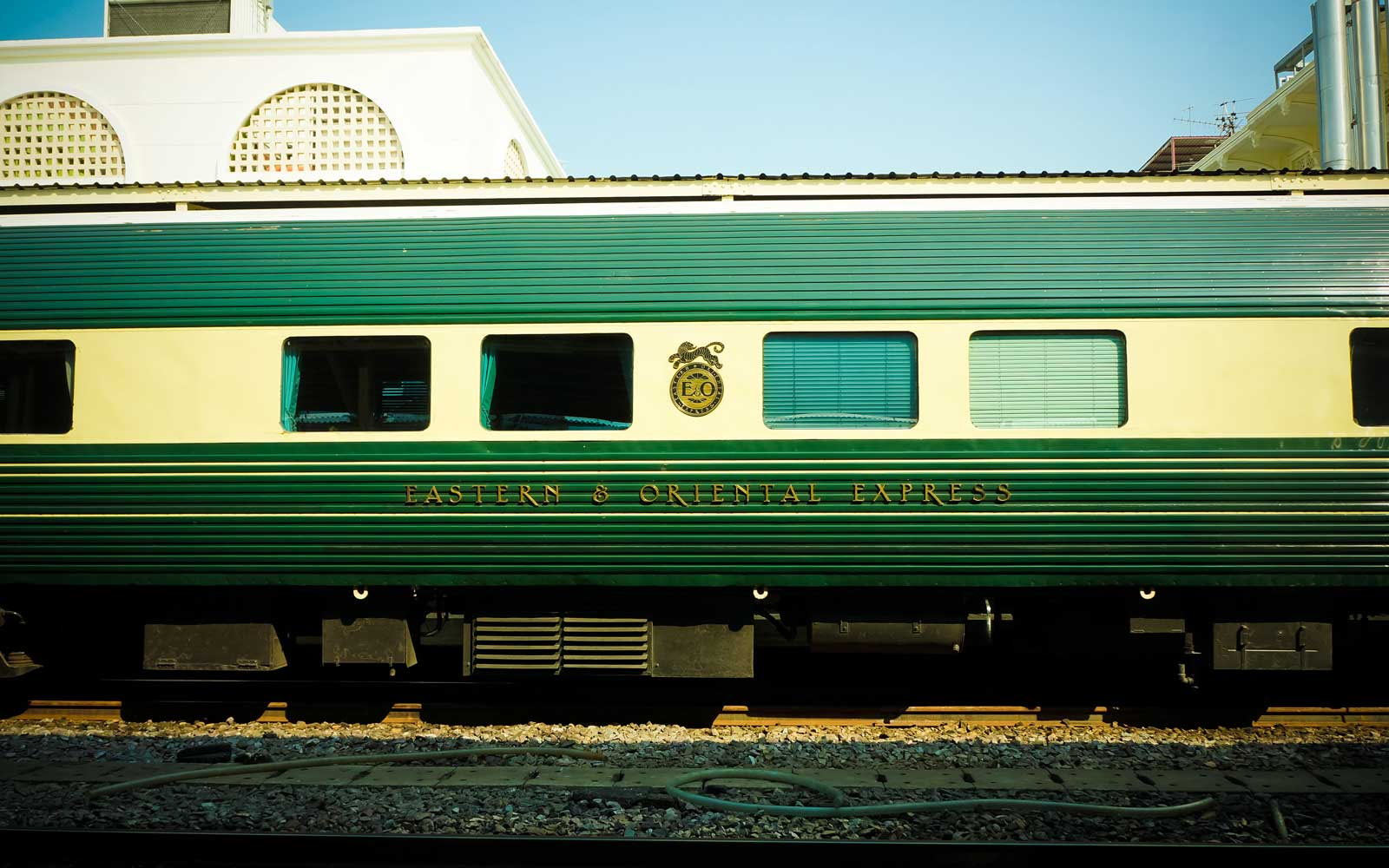 The Eastern & Oriental Express  Luxury Trains,Bangkok to Singapore in Hua Lamphong railway station