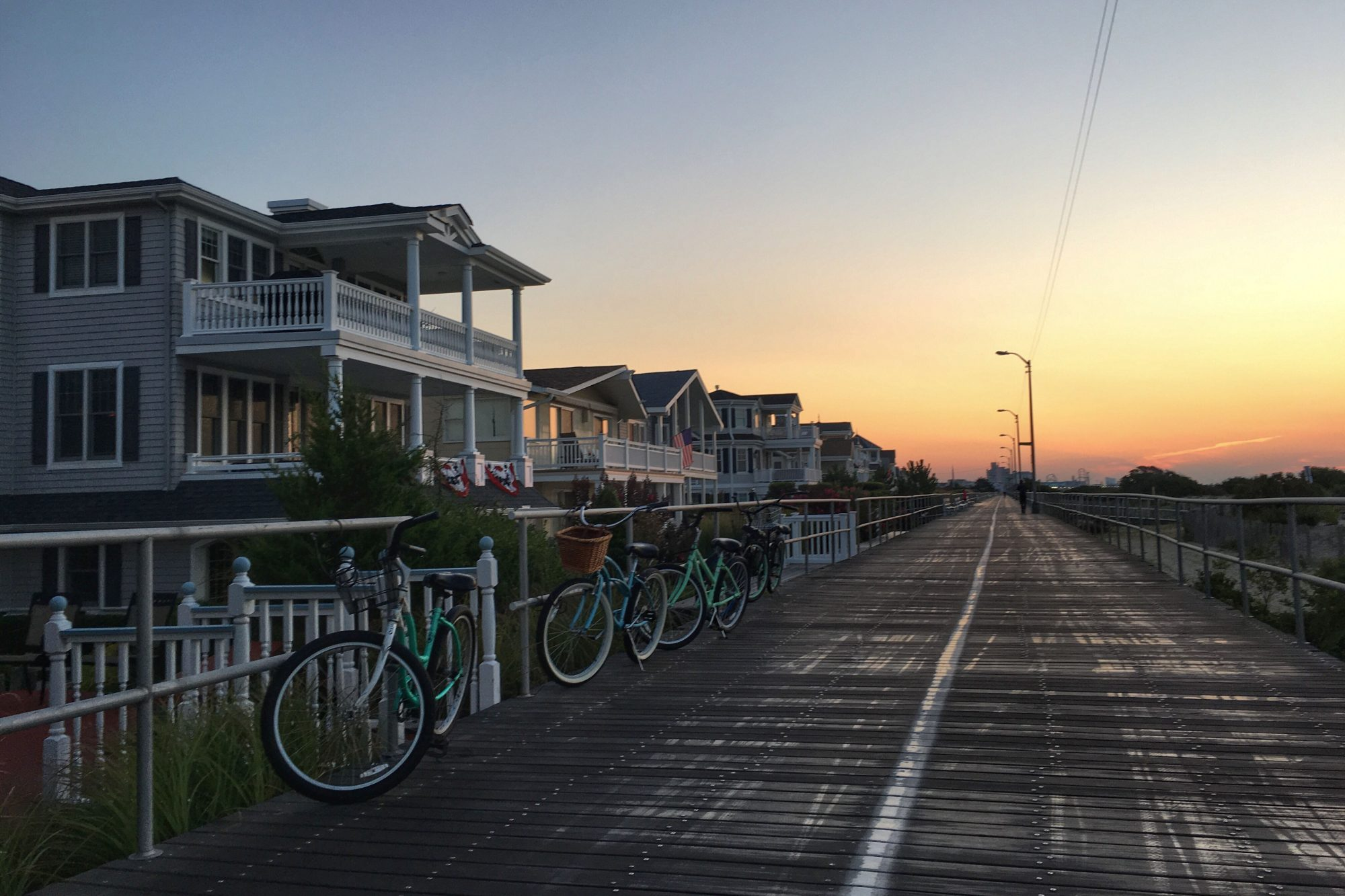 Boardwalk, bikes and beachfront homes, Ocean City, New Jersey