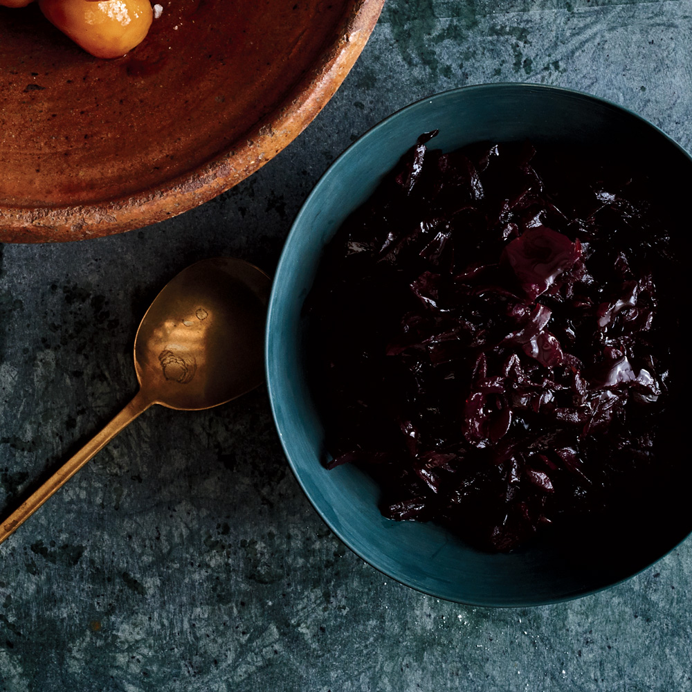 Glazed Pickled Red Cabbage