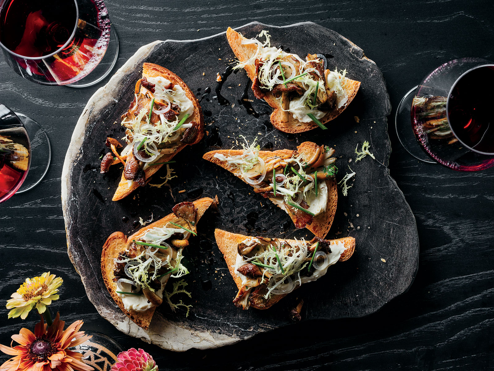 Mushroom Toasts with Delice de Bourgogne