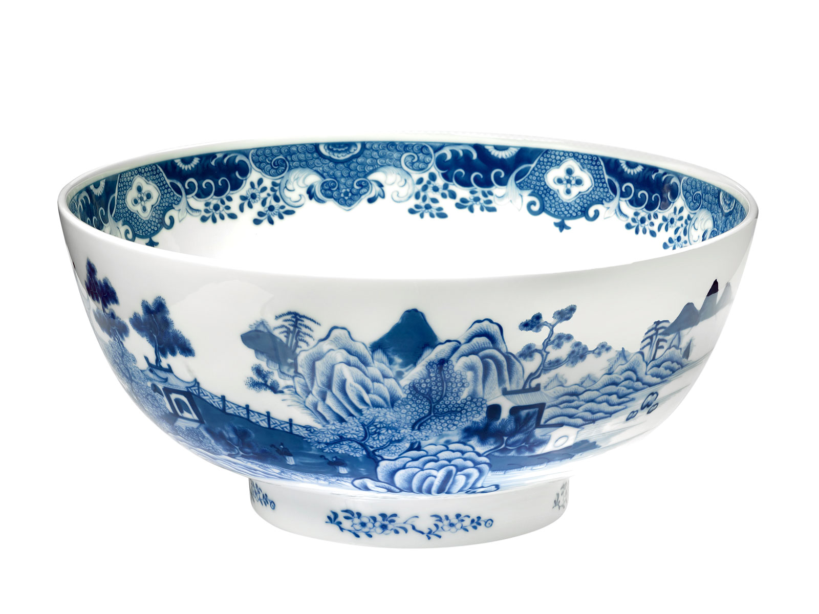 Mottahedeh National Trust Blue and White Punch Bowl