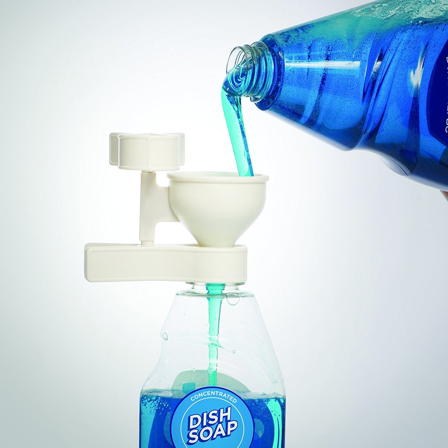A Handy Funnel for Detergent and Dish Soap