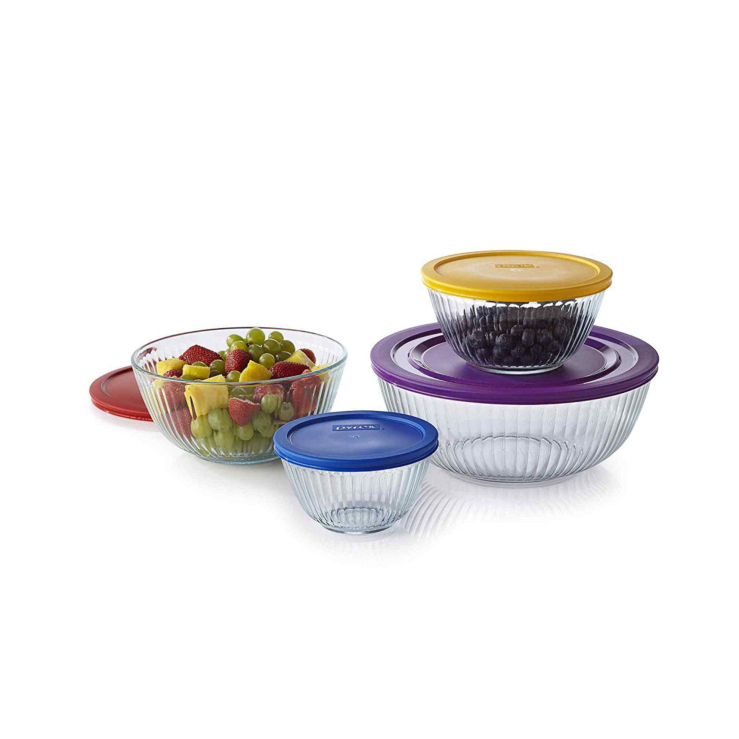 Pyrex 8-Piece Sculptured Mixing Bowl Set