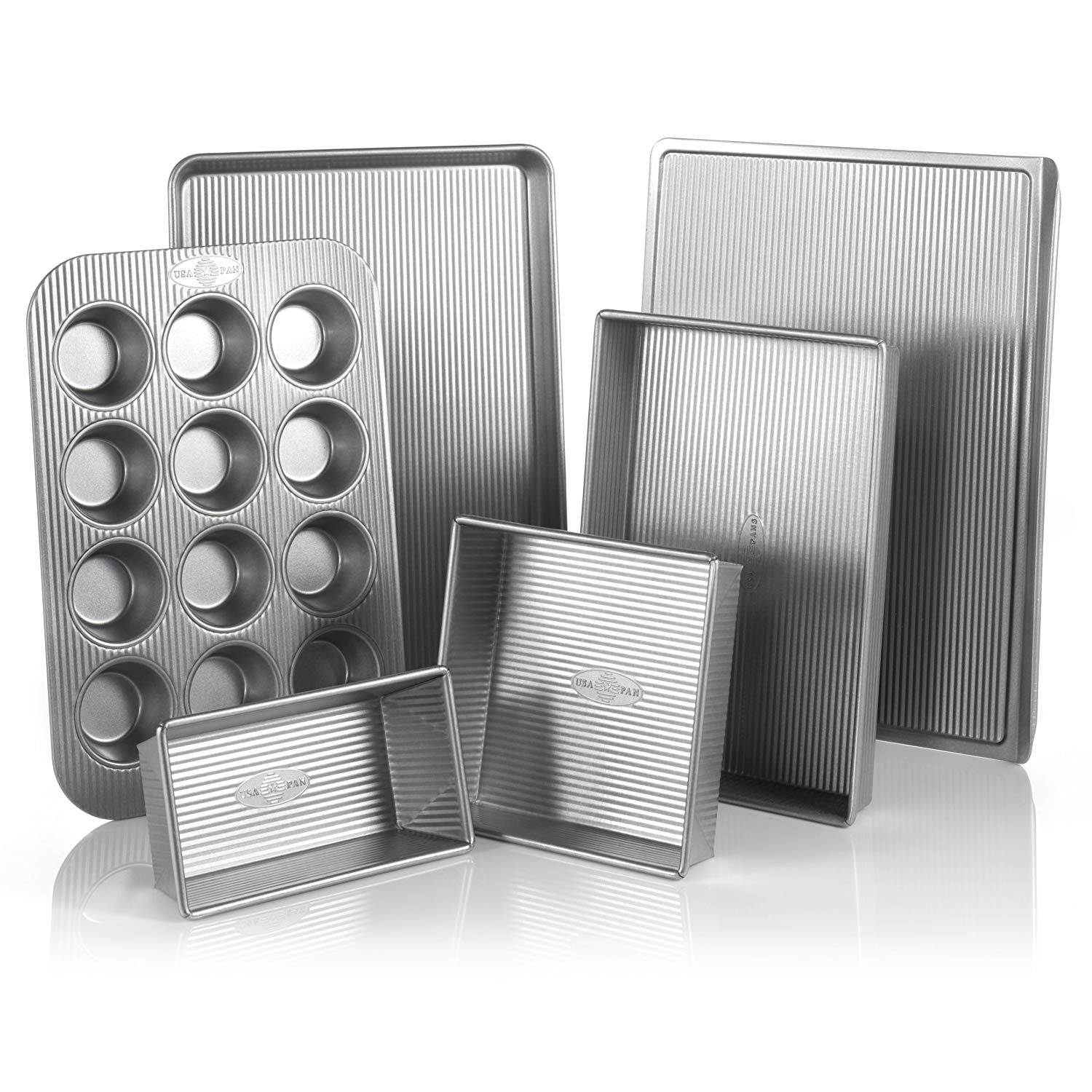 USA Pan Bakeware Aluminized Steel 6-Piece Set