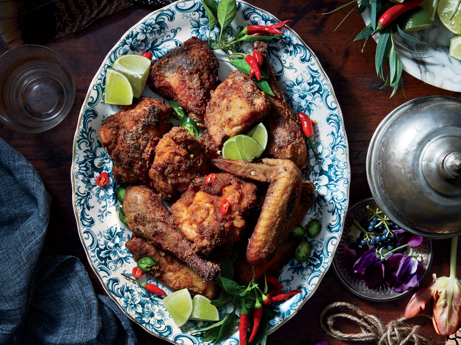 Afro-Spiced Fried Guinea Hen