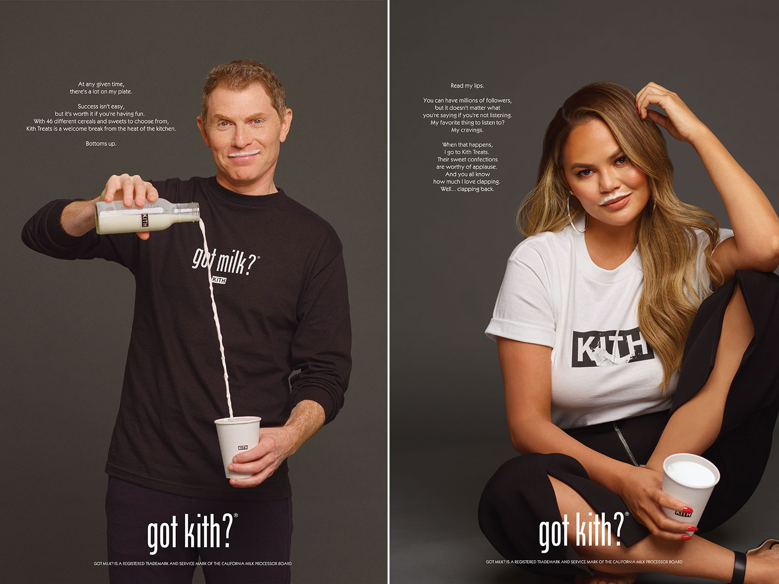 Chrissy Teigen and Bobby Flay