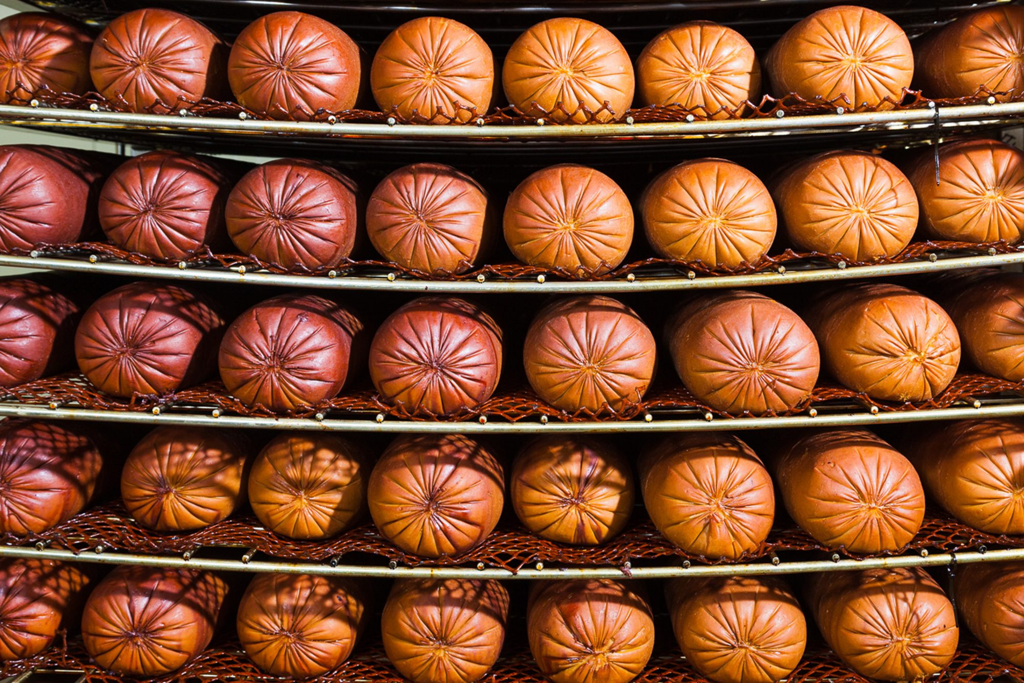 Smoked Hams, awaiting packaging at the Tofurky processing facility in Hood River, Oregon