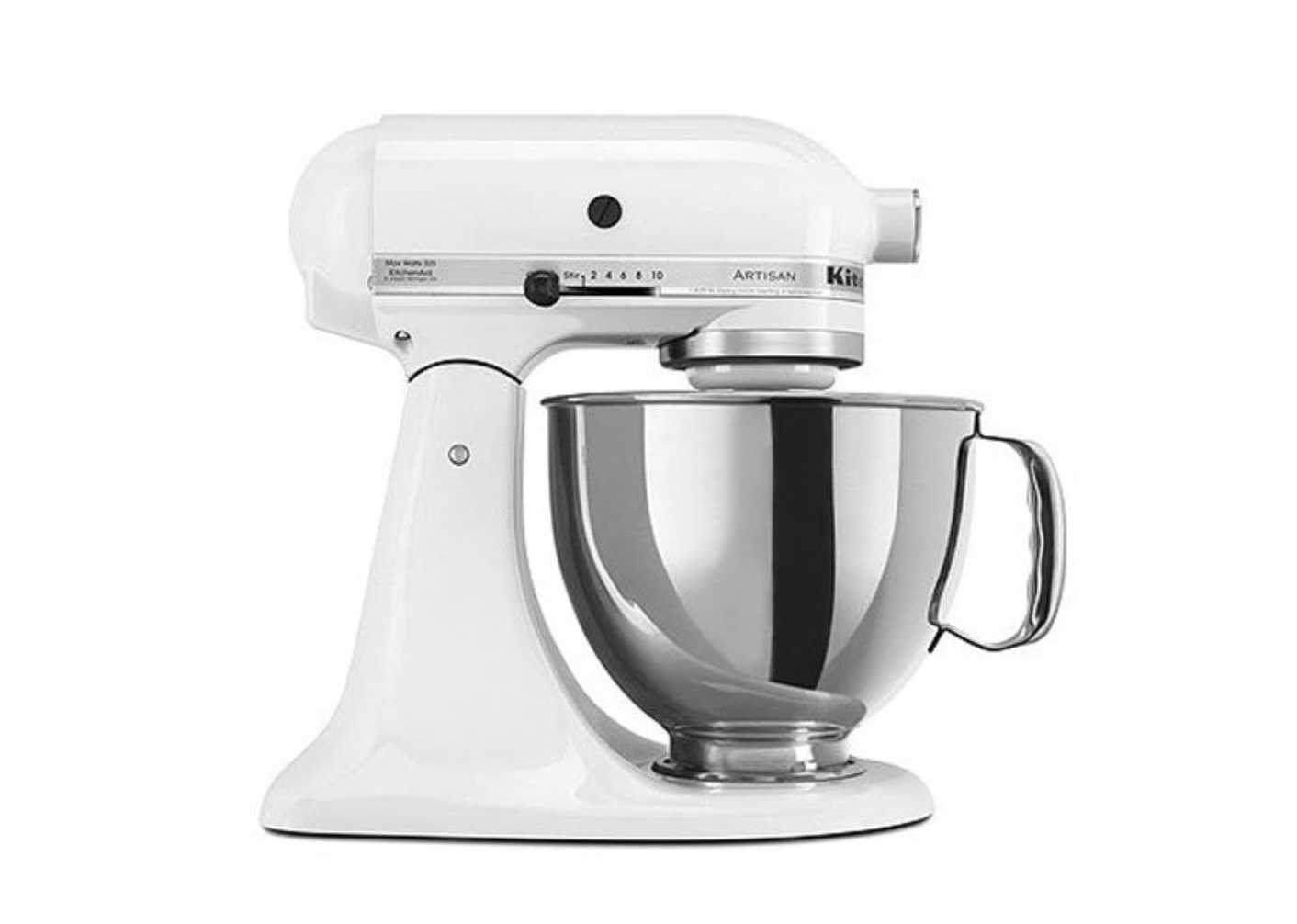 white kitchenaid mixer