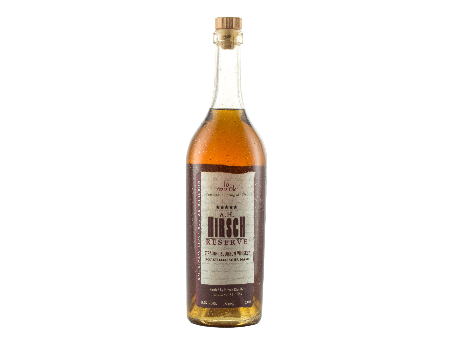 A.H. Hirsch Reserve 16 Year Old Straight Bourbon Whiskey