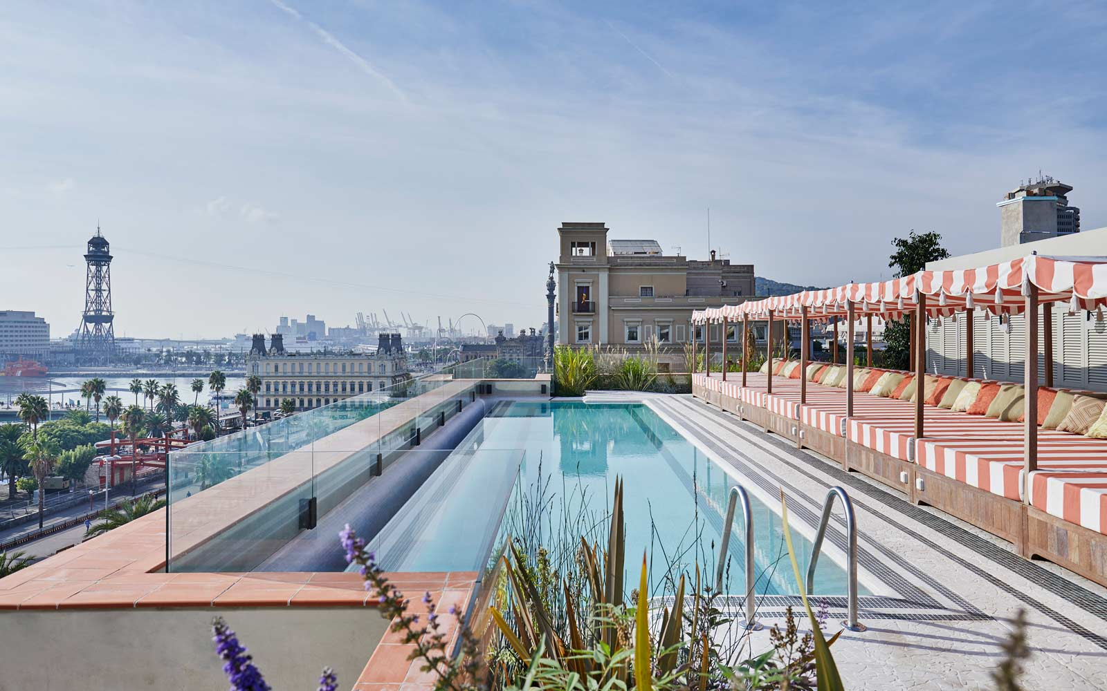 Pool at the Soho House, in Barcelona, Spain