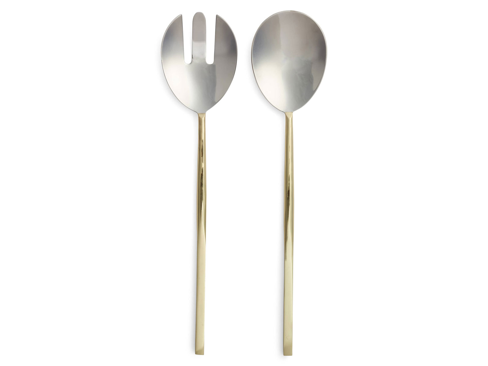 Golden 2-Piece Salad Serving Set