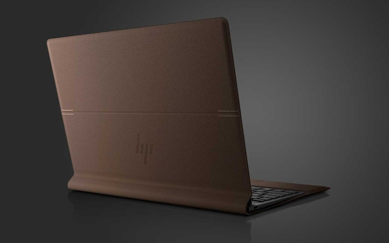 hp leather laptop