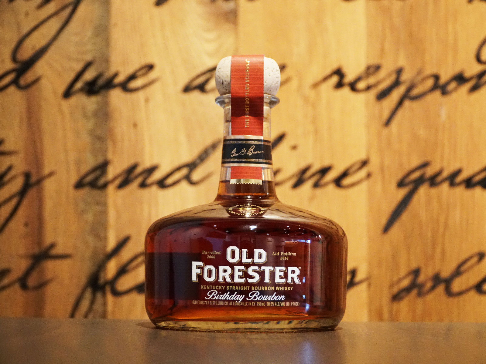 Old Forester Birthday Bourbon 2018