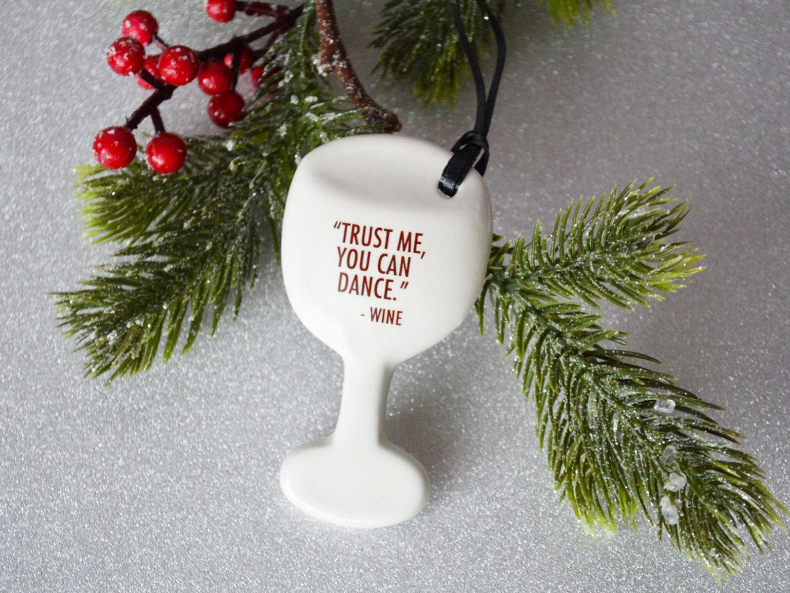 Susabellas Wine Glass Ornament