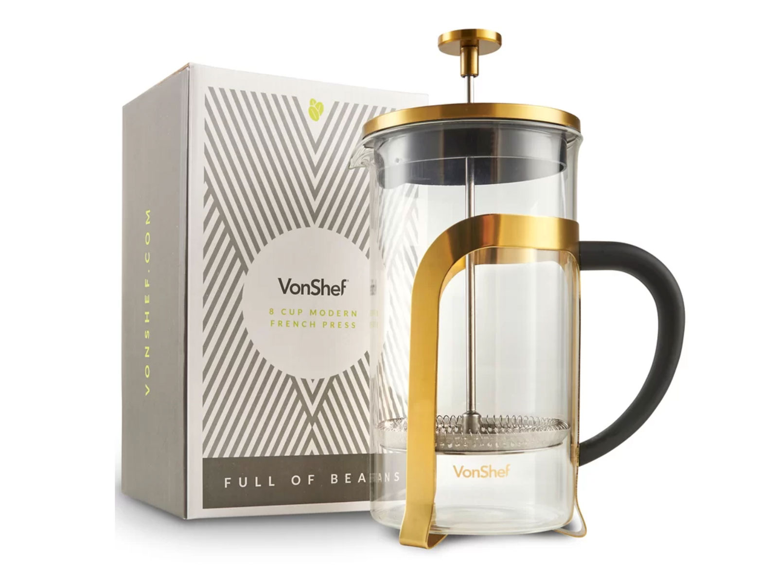 8-Cup Stainless Steel Heat Resistant French Press