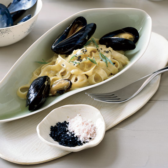 Tagliatelle with Mussels and Tarragon