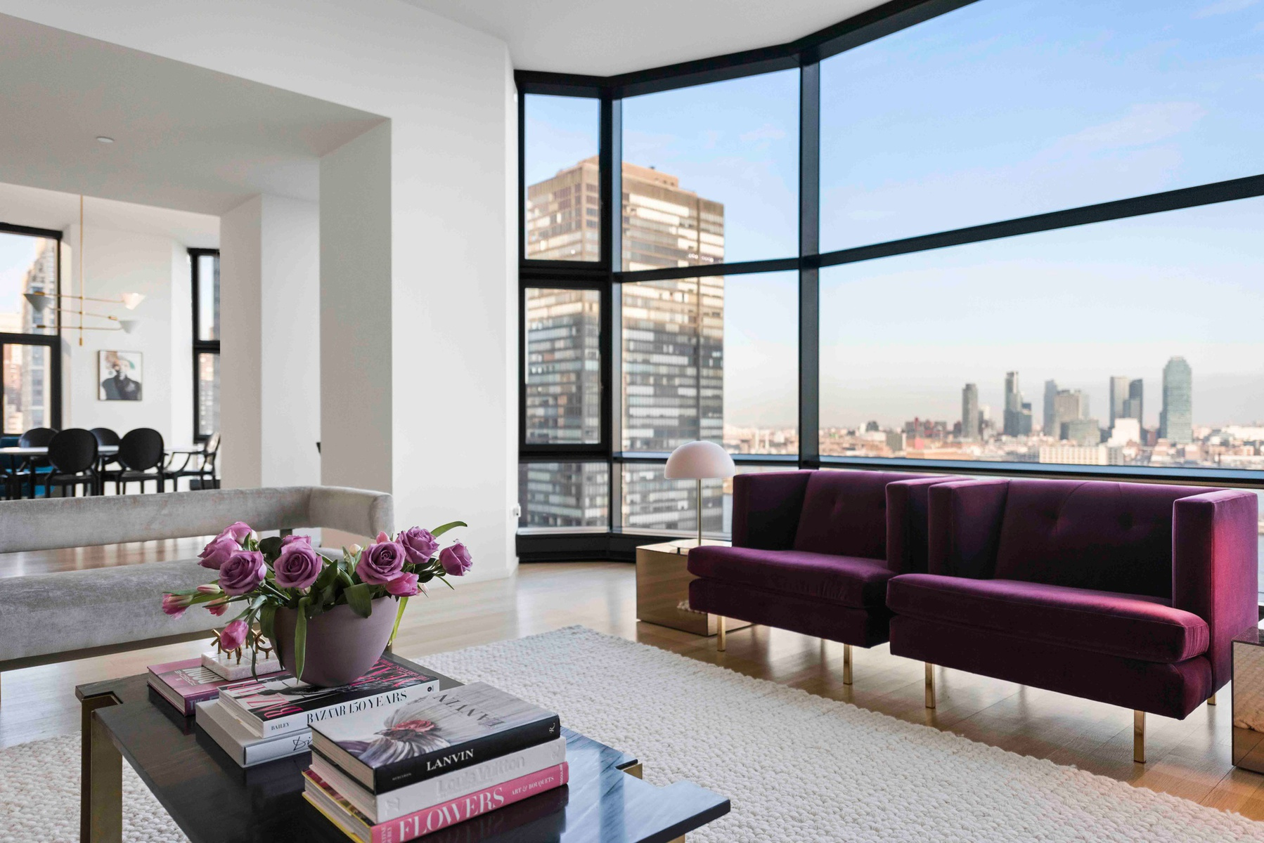 Queen Elizabeth's NYC Apartment, Living Room with river views
