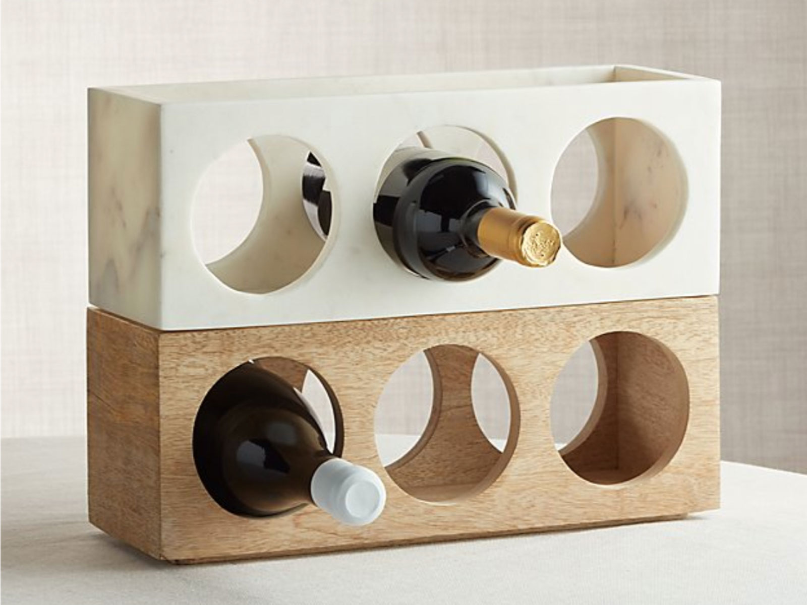 Crate & Barrel wood wine rack