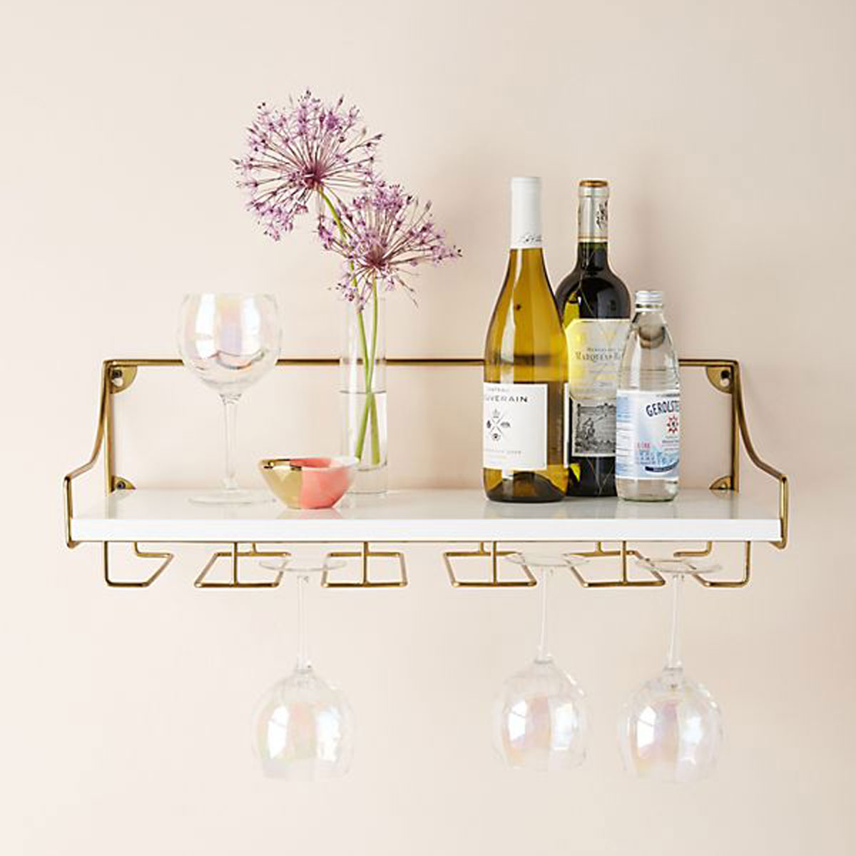 Anthropologie wine shelf