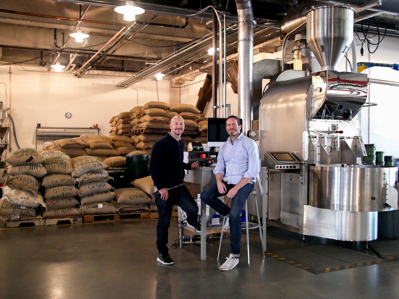 Chris Jordan and Chad Robertson founders of Coffee Manufactory