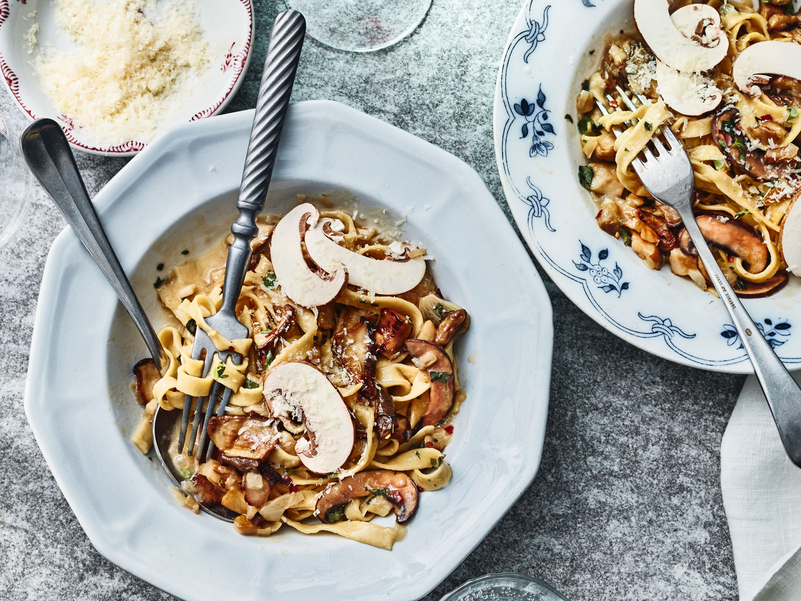 Hand-cut Tagliatelle with Porcini and Herbs