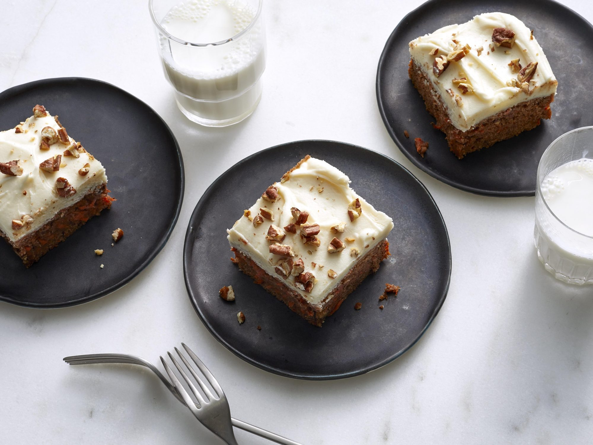 Carrot-Almond Snack Cake with Cream Cheese Frosting