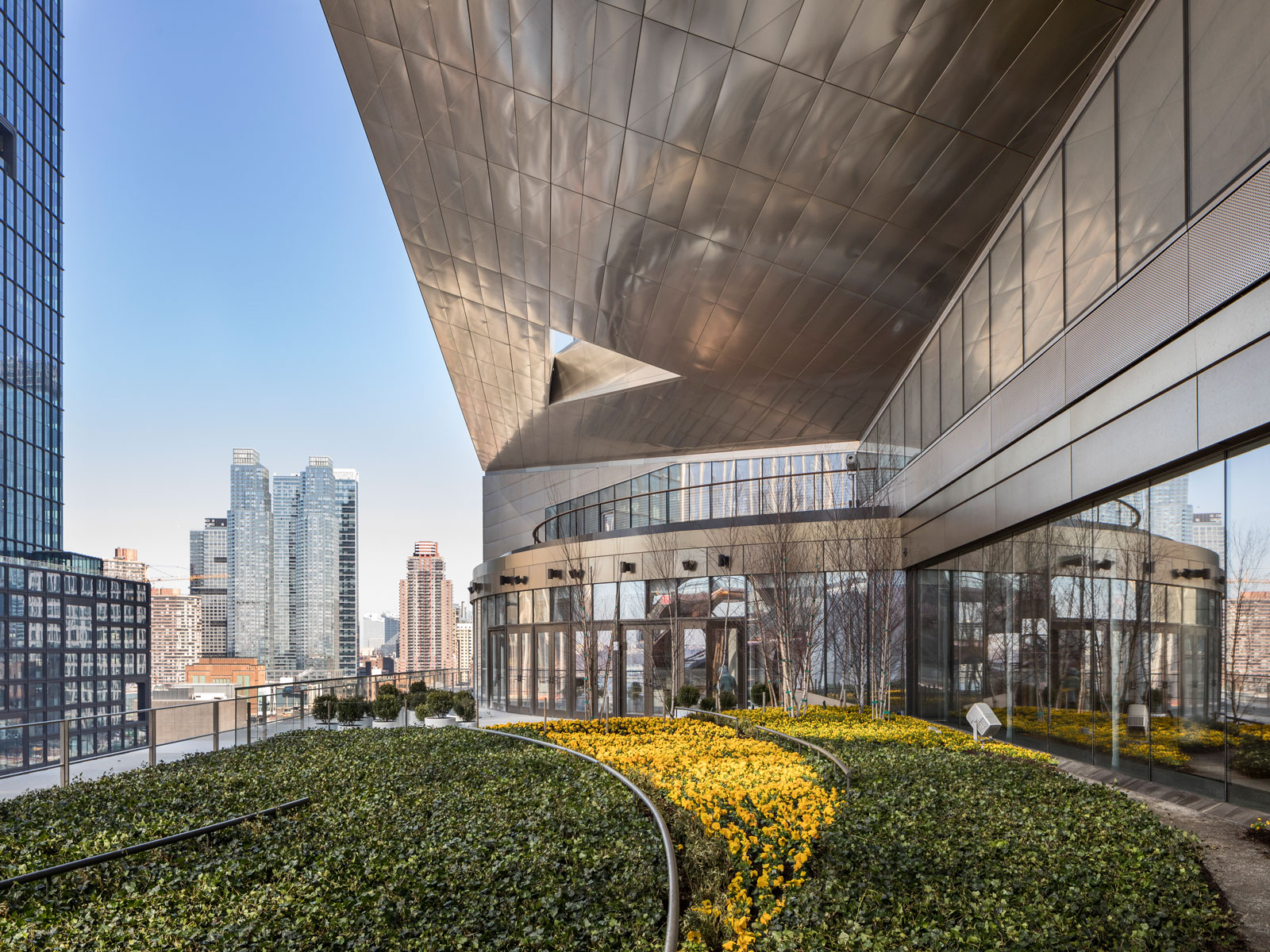 55 Hudson Yards Estiatorio Milos Terrace view