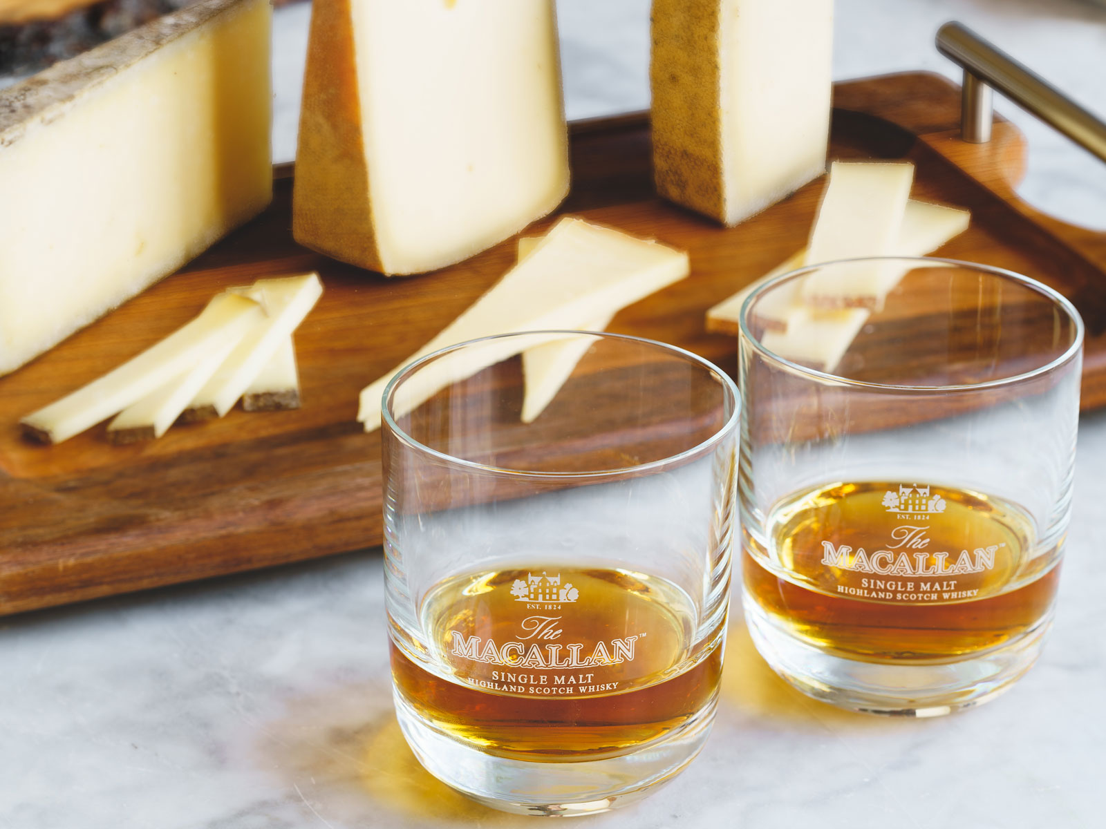 Whiskey and cheese