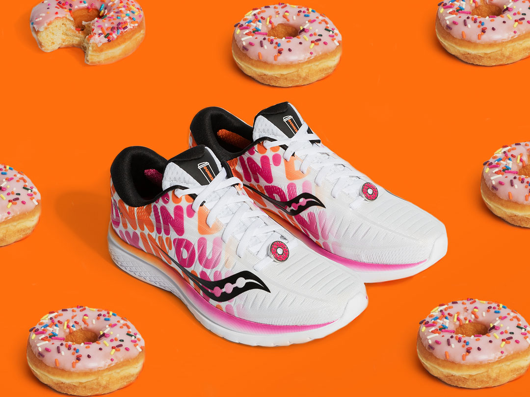 Saucony Dunkin Donuts Boston Marathon shoe collaboration