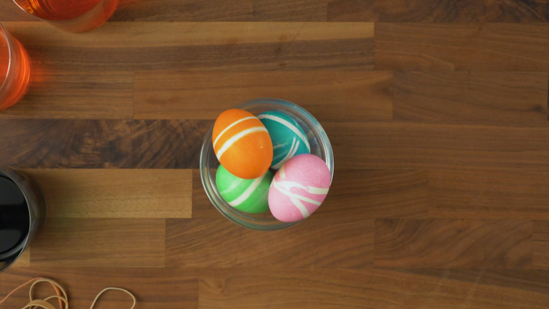Easy Striped Easter Eggs