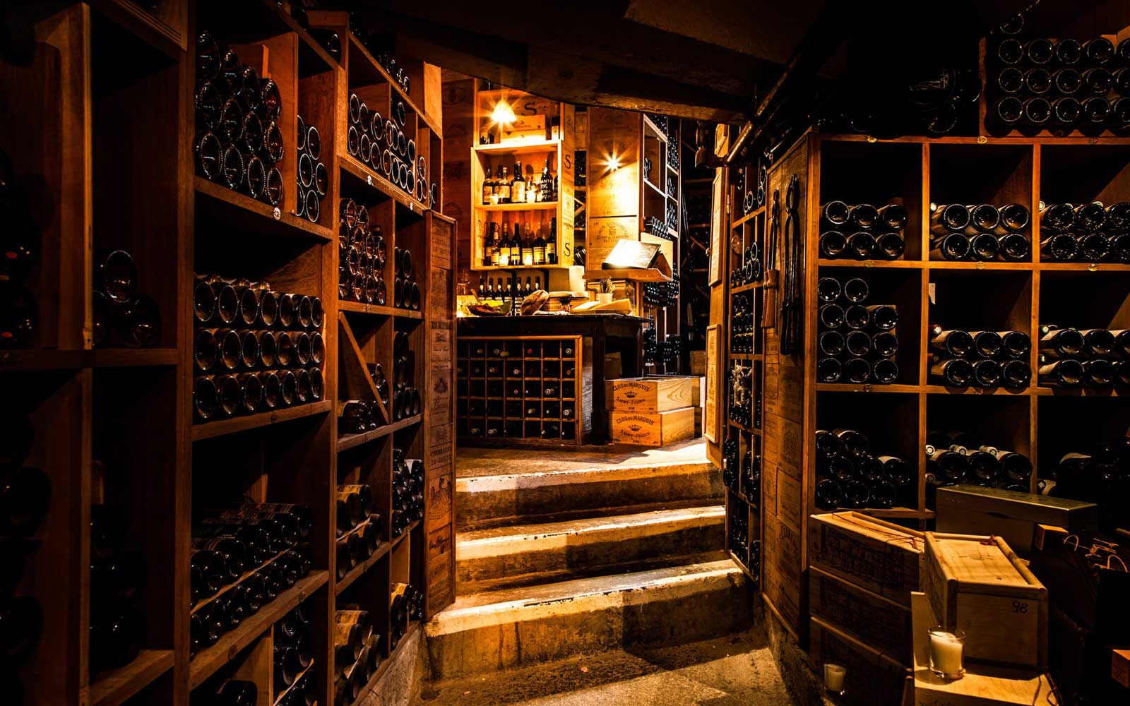 The wine cellar at the George V in Paris, France