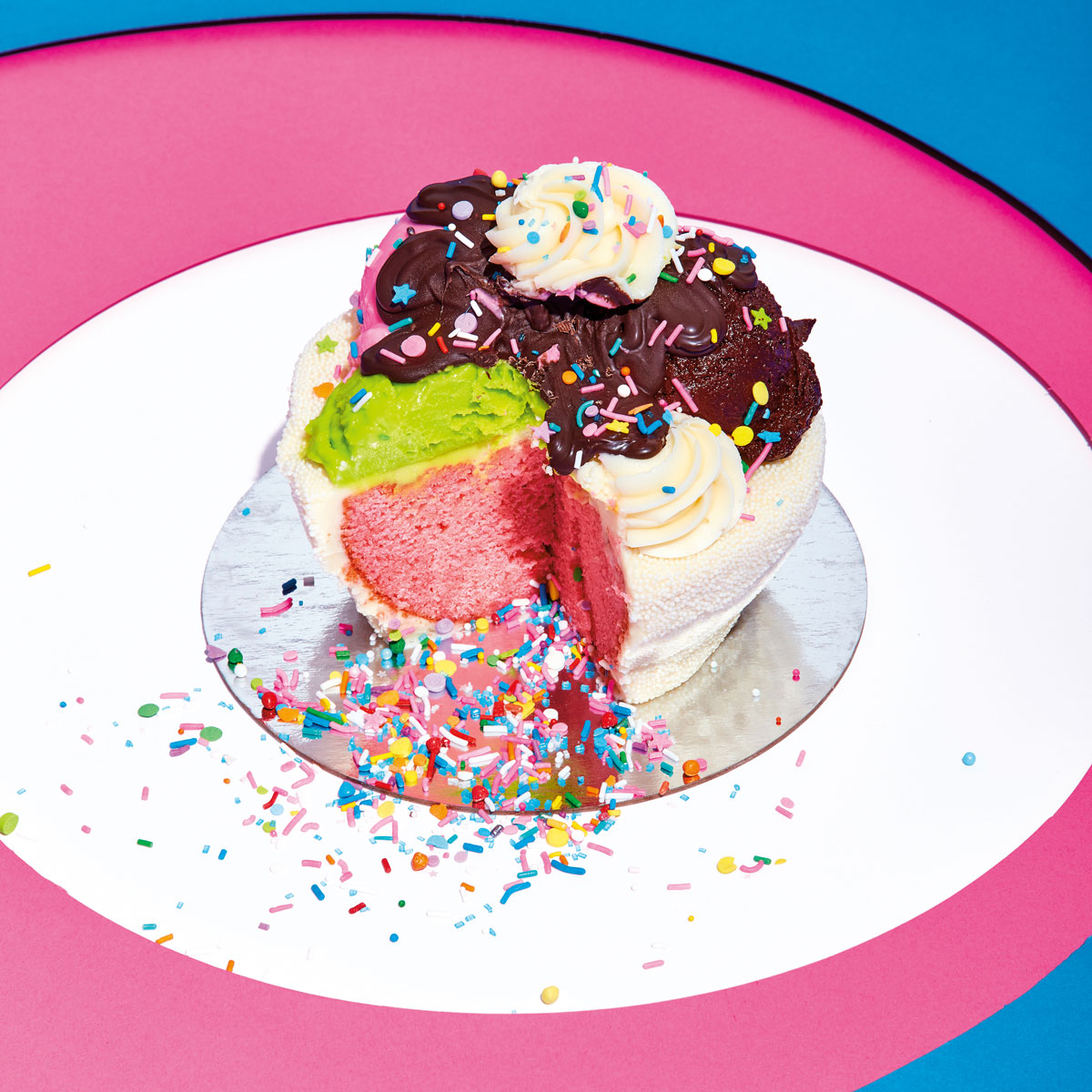 ice cream cake from the Power of Sprinkles cookbook
