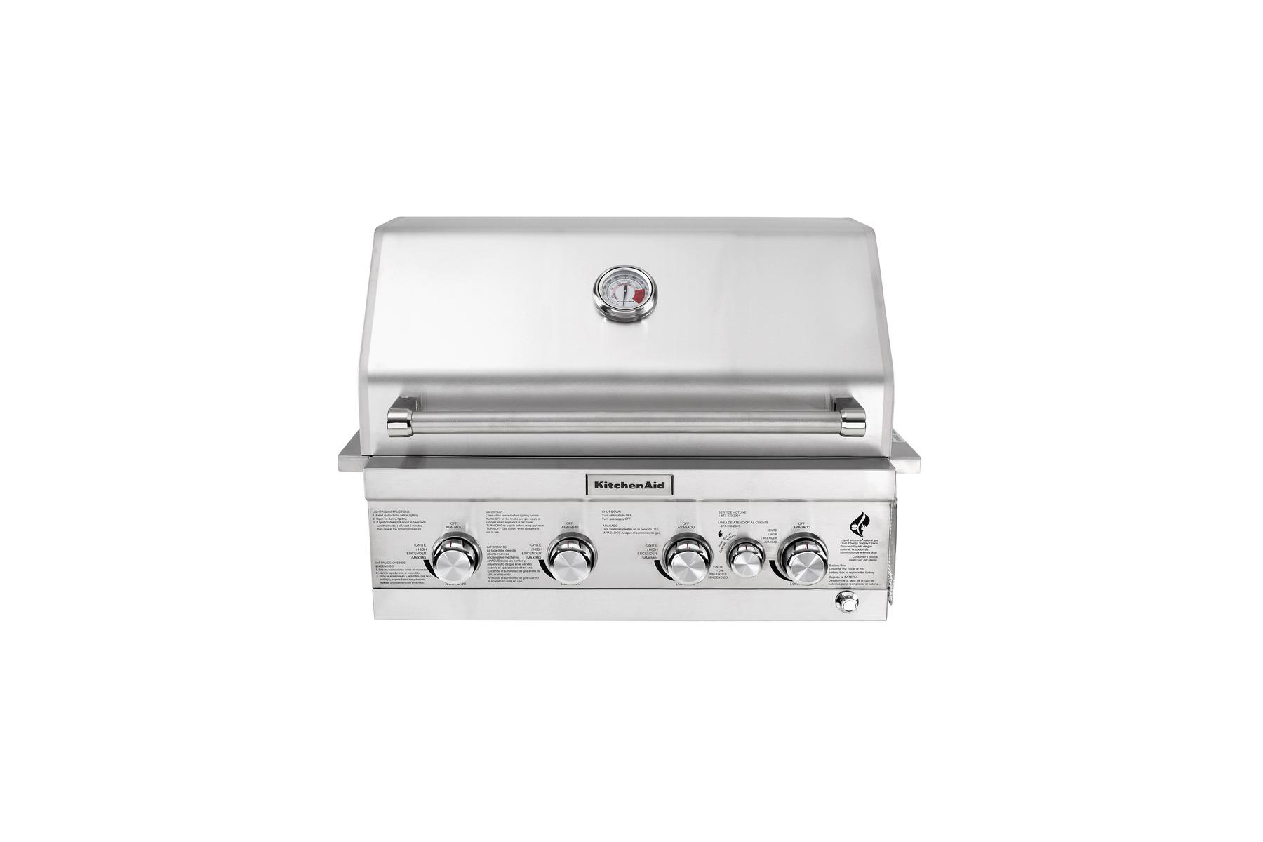 Best Built-In Option: KitchenAid Four Burner Built-In Propane Island Grill Head