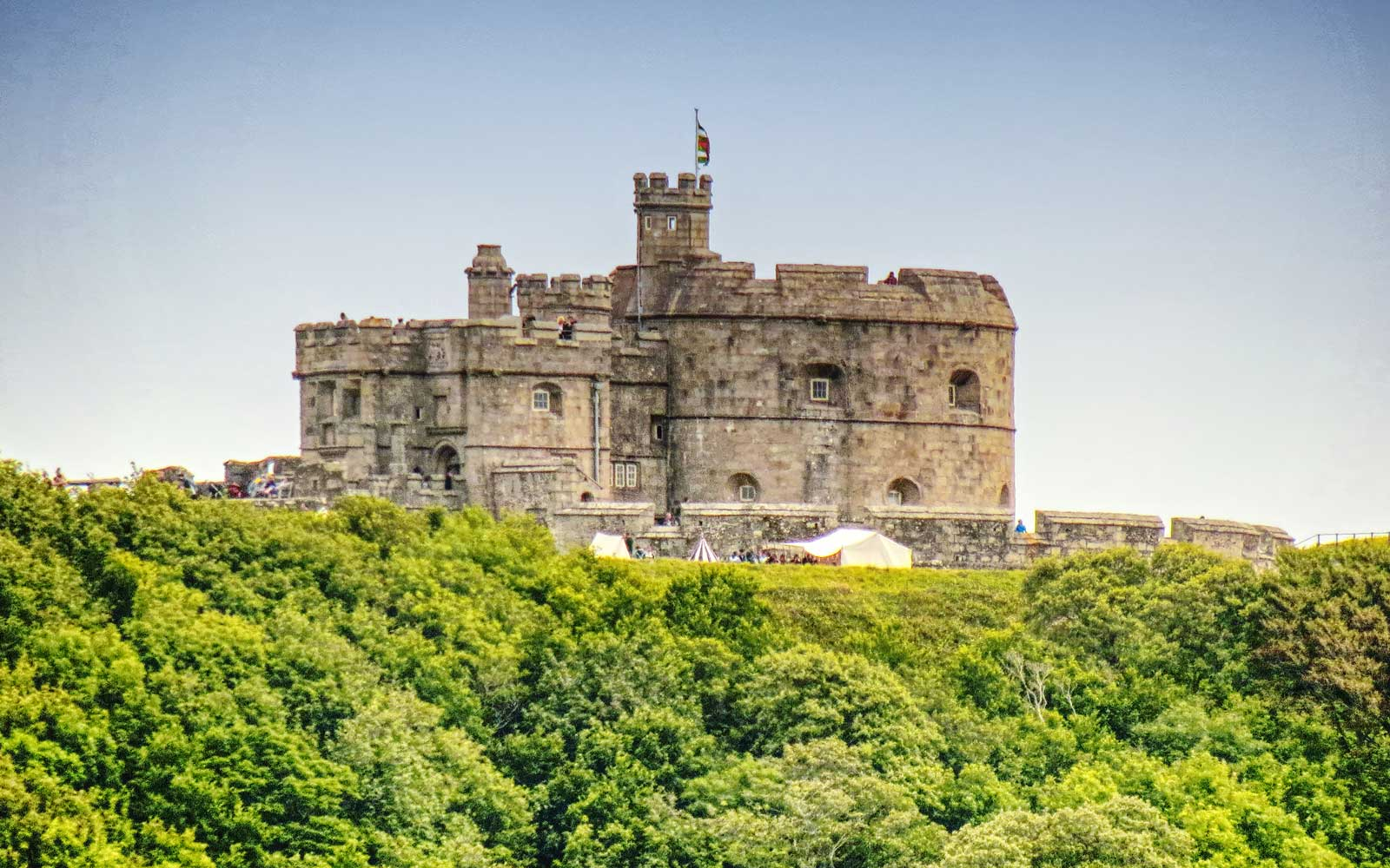 Pendennis Castle in Falmouth, South Cornwall, UK