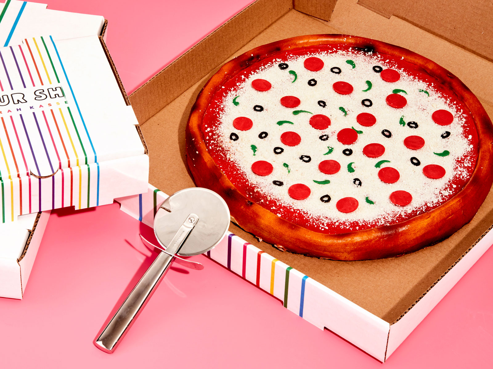 pizza cake from the Power of Sprinkles cookbook