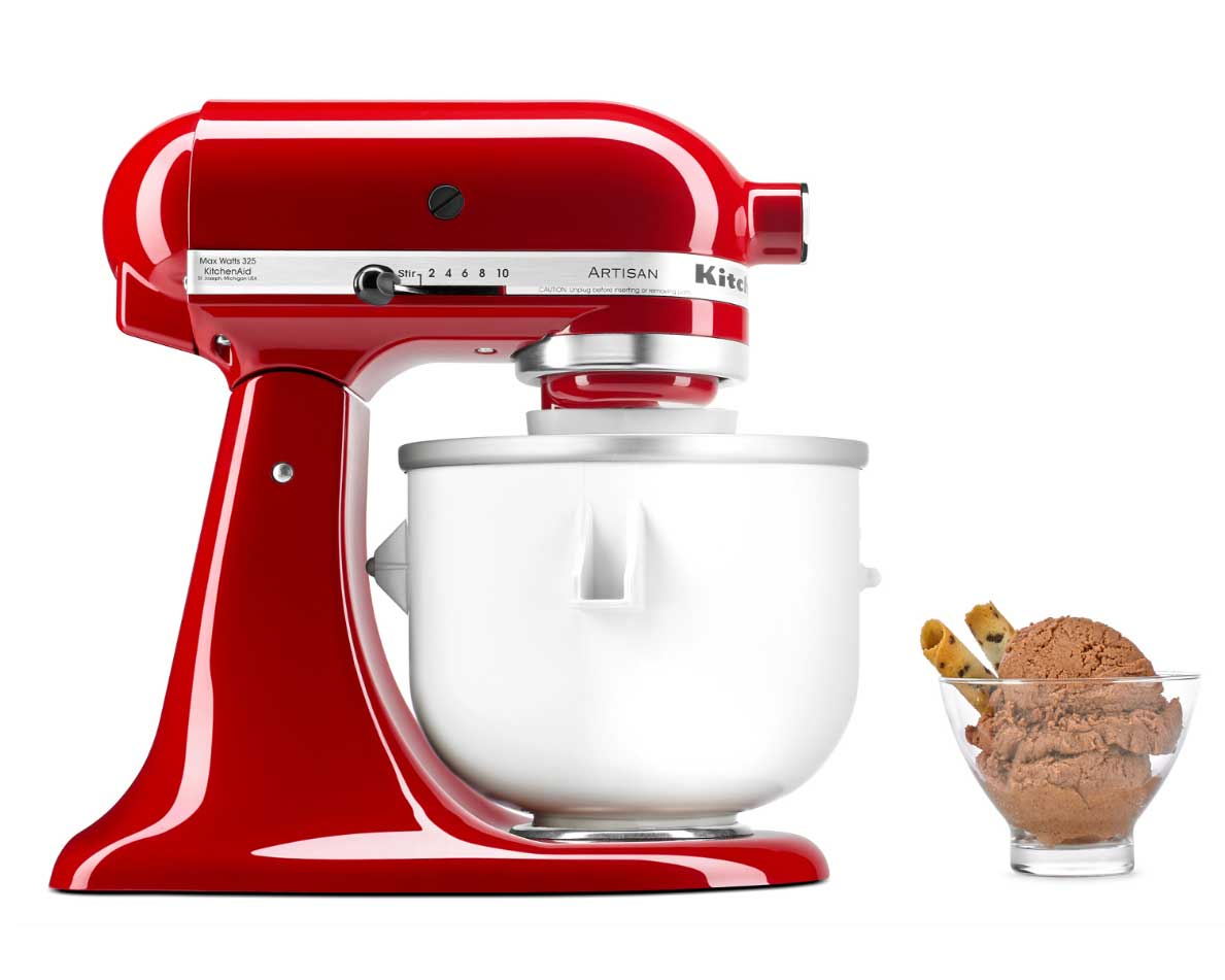 Kitchenaid mixer ice cream maker