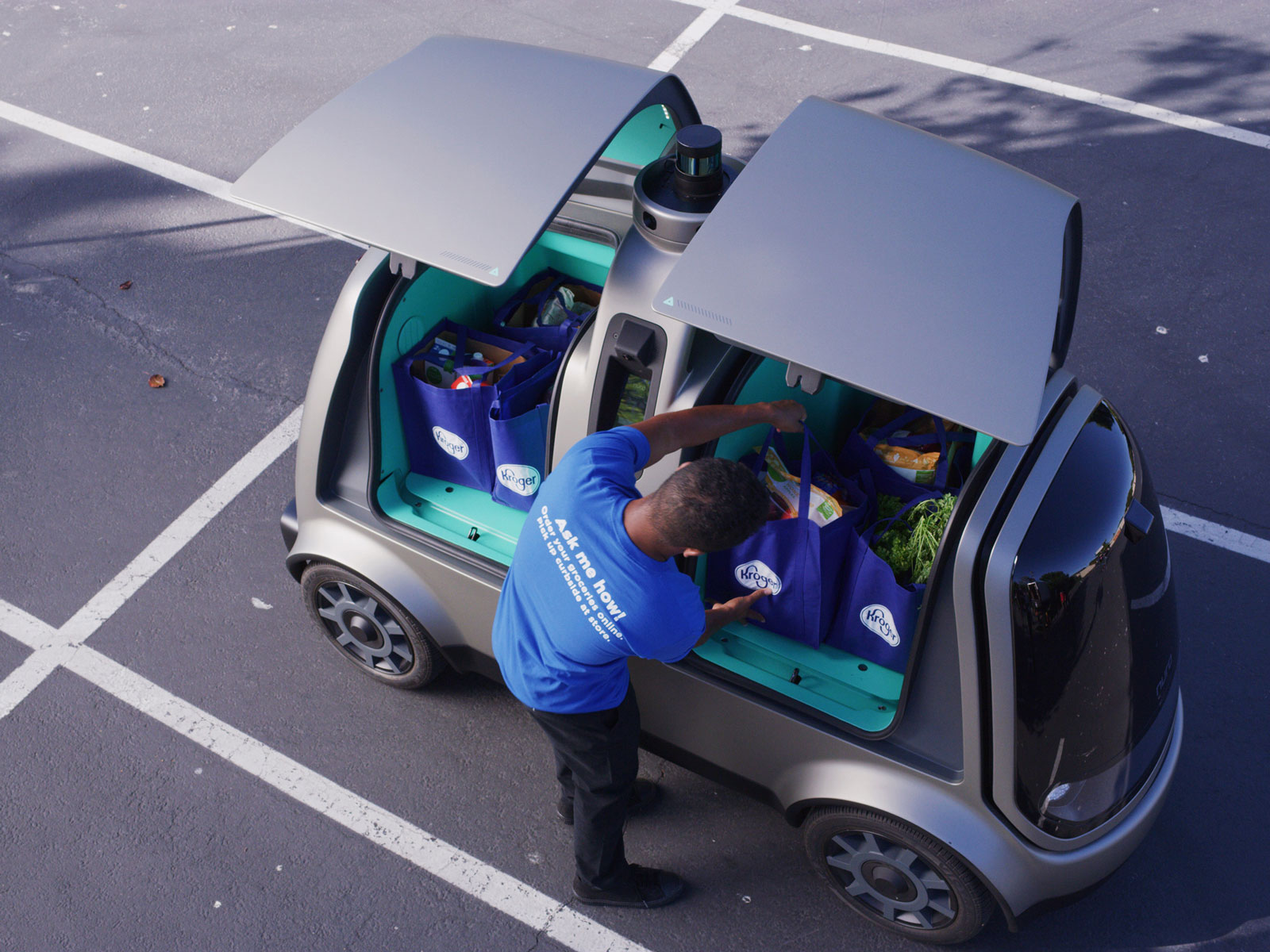 Nuro Kroger Robotic Grocery Delivery