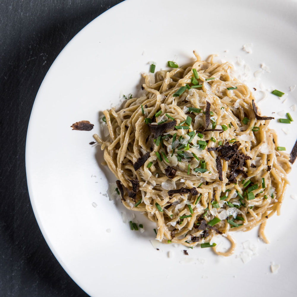 Rye Capellini with Yeast Butter and Truffles