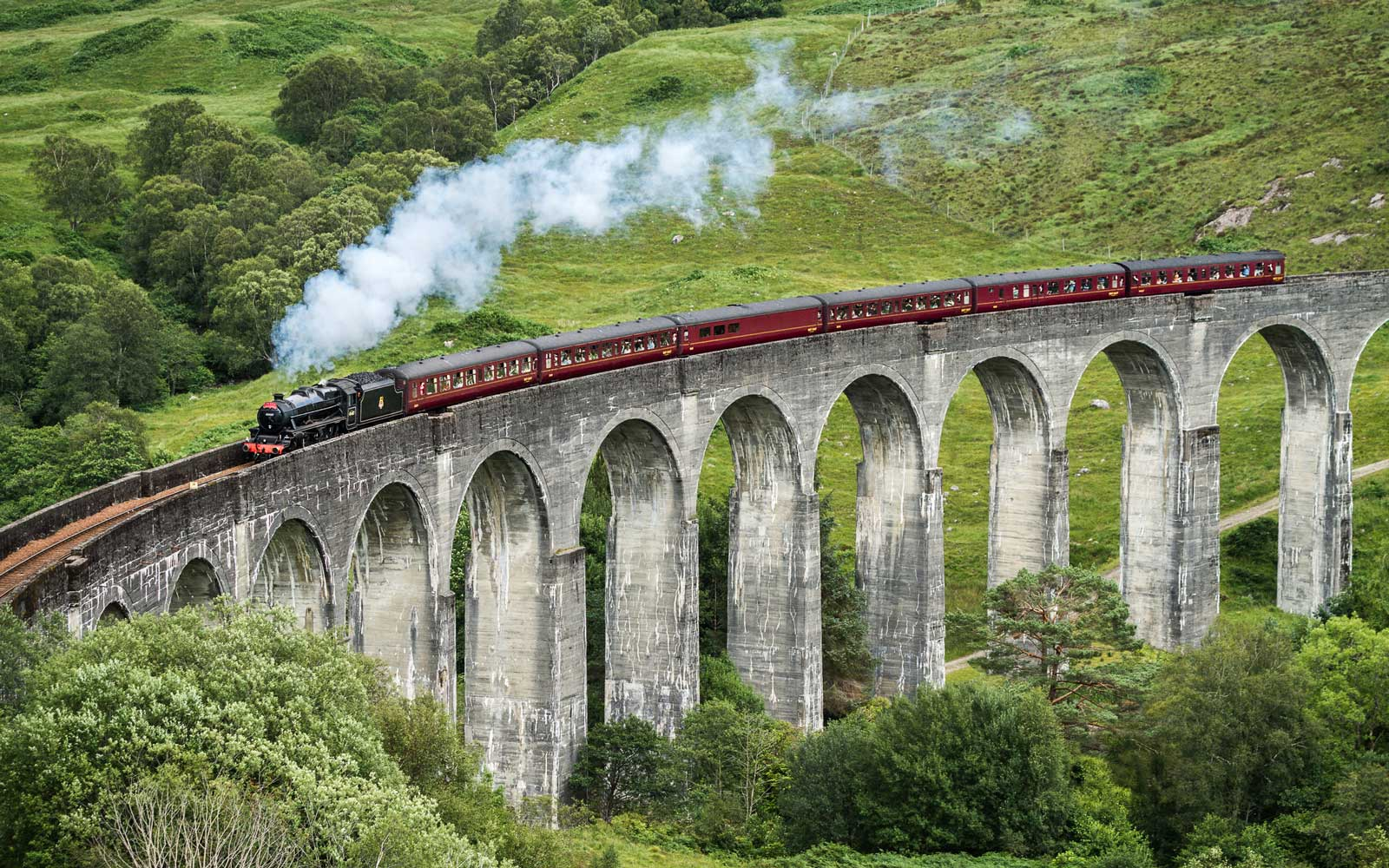 The Jacobite On Glenfinnan Viaduct AKA Hogwarts Express Train