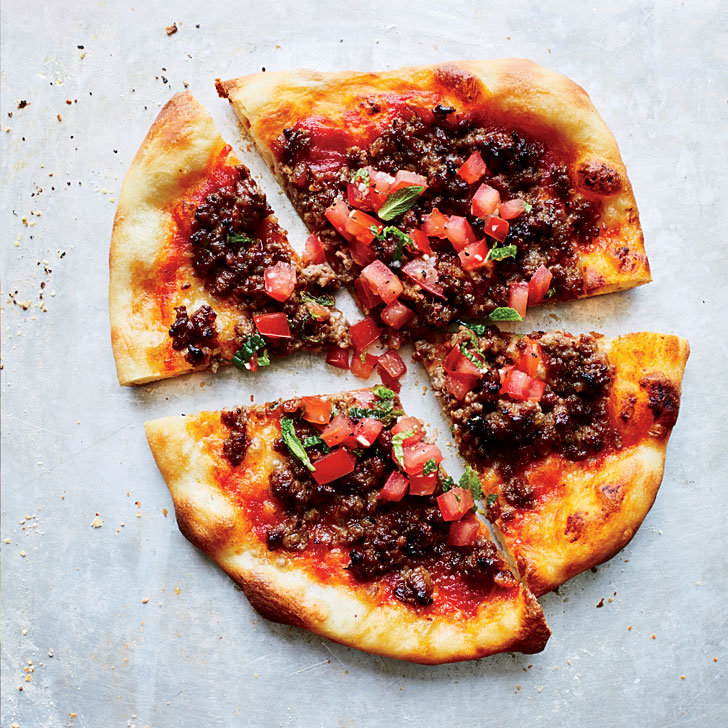 Spiced-Lamb Pizzas