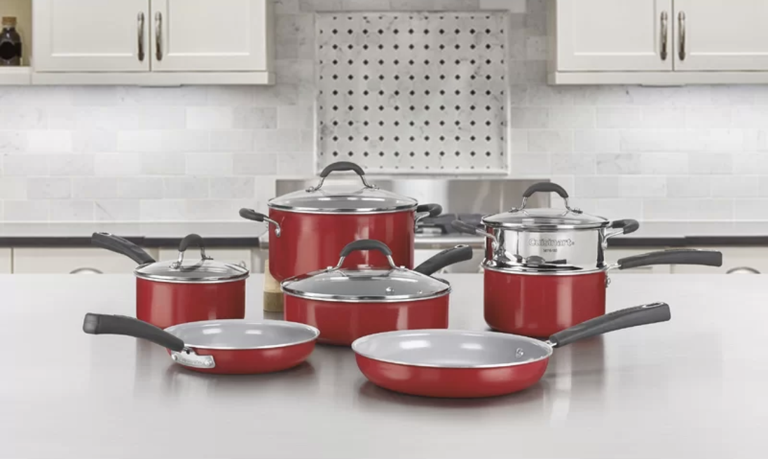 11 Piece Ceramic Non Stick Cookware Set