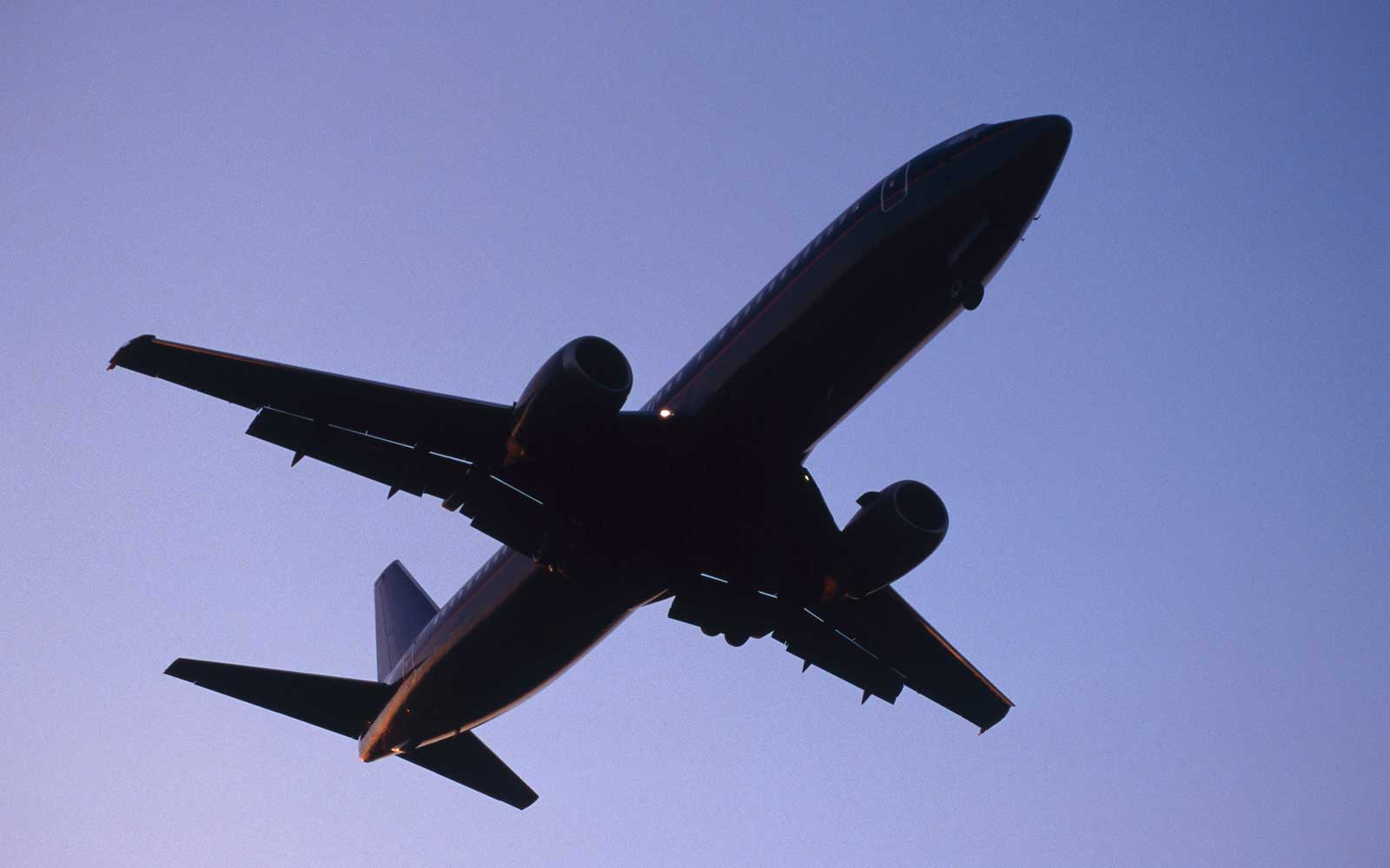 Boeing plane in the sky
