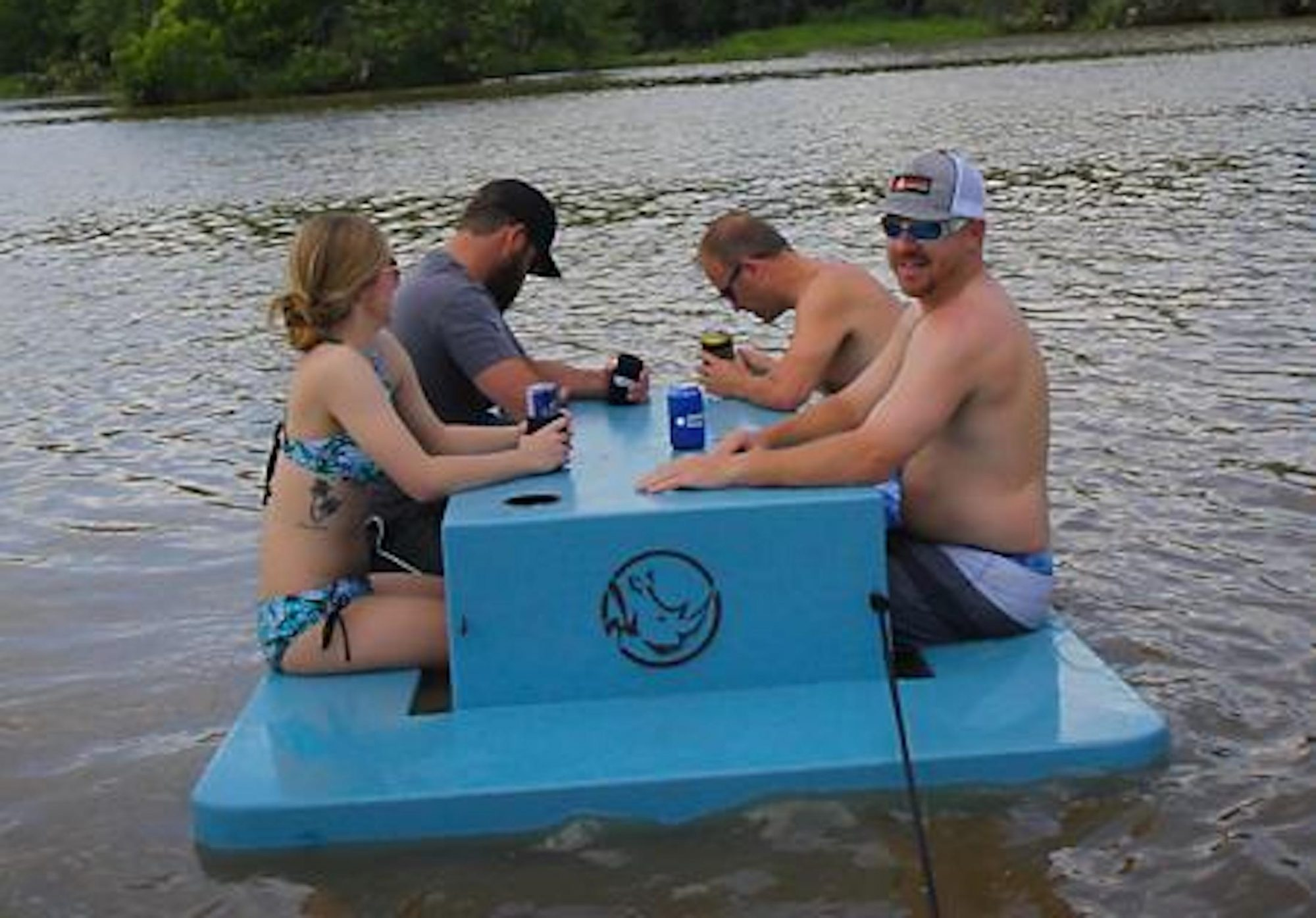 You Need This Floating Picnic Table for Your Next Pool Party