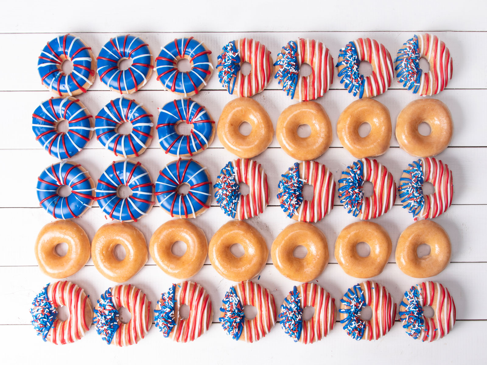 Krispy Kreme July 4th Doughnuts